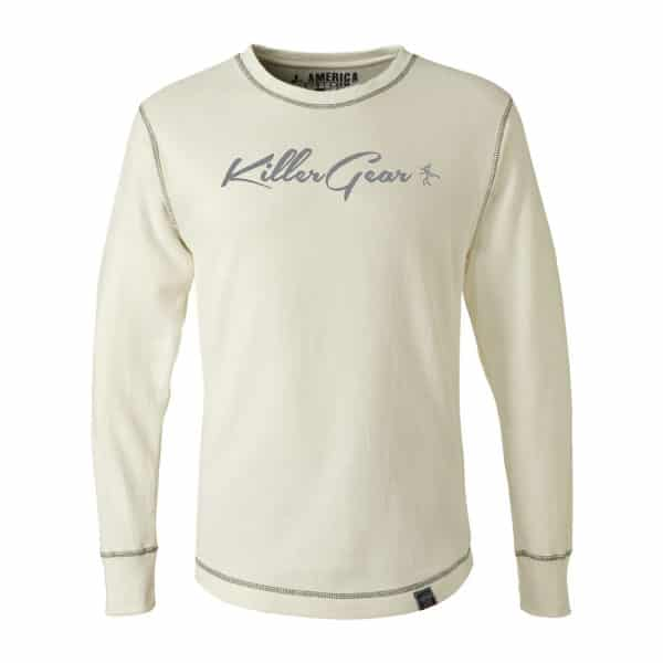 Off-White Long sleeve crew neck KillerGear thermal with text and logo 1