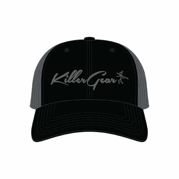 Snapback Cap Black/Charcoal with KillerGear text and logo 1