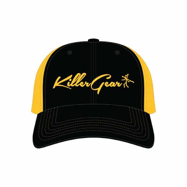 Snapback Cap Black/Gold With KillerGear text and logo 1