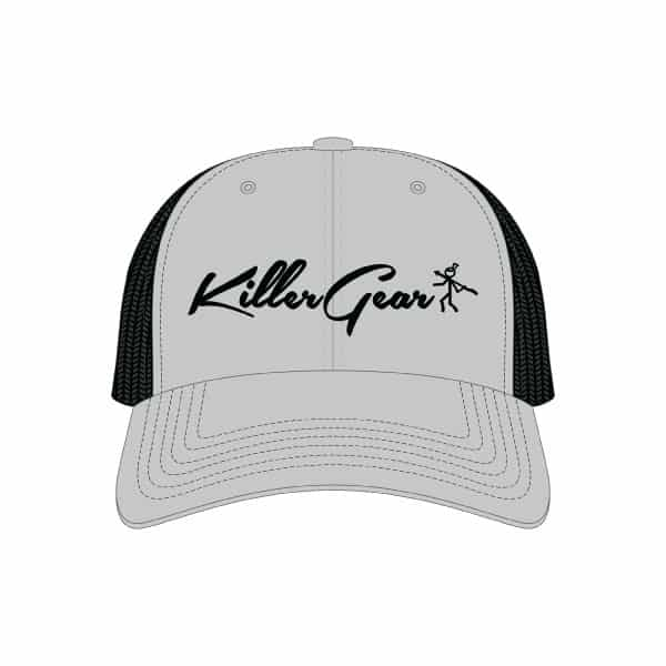 Snapback Cap Grey/Black with KillerGear text and logo 1