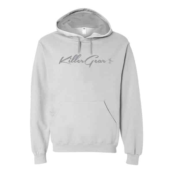 Soft spun hoodie with KillerGear text and logo center chest. 1