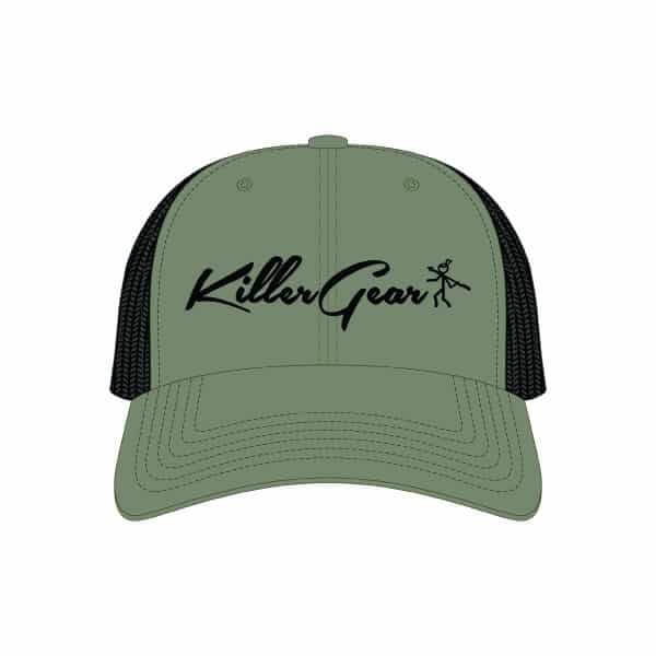 Snapback Cap Olive/Black With KillerGear text and logo 1