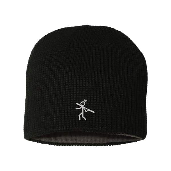 One size fits all fleece beanie with KillerGear icon on front 1