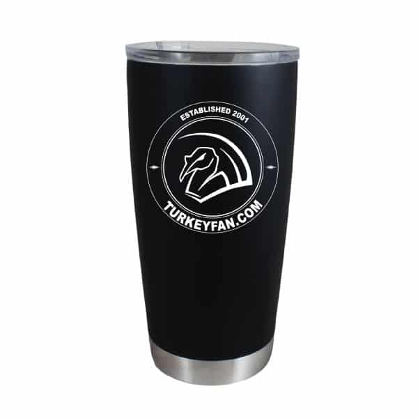 20oz Anodized Stainless Steel Rambler with TurkeyFan Circle logo 1