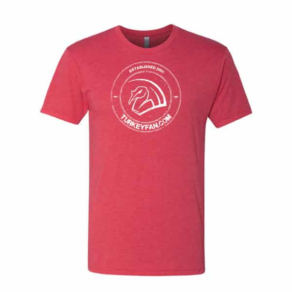Super Soft Red T-shirt with TurkeyFan Round logo 1