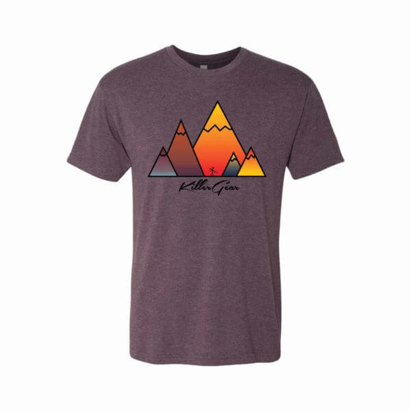 Super Soft Purple T-Shirt with KillerGear Mountain Design 1
